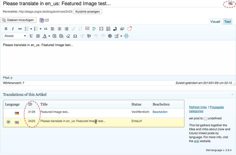 xili-language Verknüpfung von zwei Artikeln